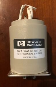 Hp Agilent 87104a Sp4t 100 Dc To 4ghz Multiport Coax Coaxial Switch New Rfe