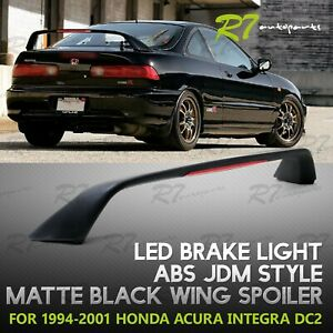 For 94 01 Acura Integra Jdm Abs Matte Black Type r Style Rear Trunk Spoiler Wing