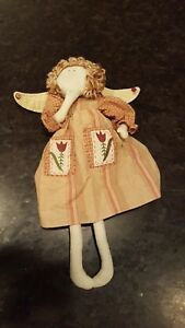 Primitive Folk Art Angel Doll Christmas Cloth Rag Doll 17