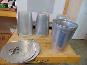 50 Maple Syrup Aluminum Sap Buckets Lids Covers Taps Spiles 1247