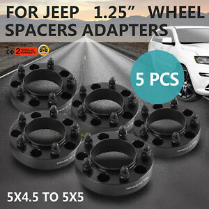 1 25 5pcs Hubcentric Wheel Spacers For Jeep Grand Cherokee 1993 1998 1 25