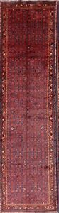 Magnificent Geometric Palace Sized 4x14 Wool Hamedan Runner Oriental Rug