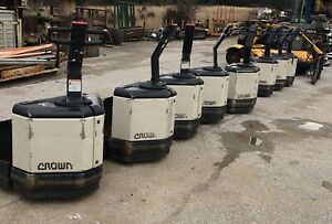 Crown Pw3520 60 Electric Battery Pallet Jack Lift 6000 Lbs Lot Of 8
