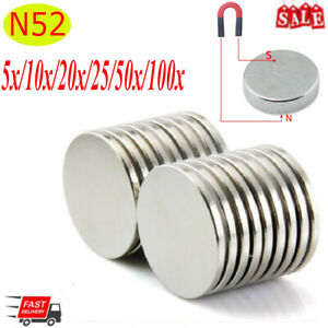 5 100 Pcs N52 Super Strong Fridge Magnets Rare Earth Neodymium 13 16 x1 8 Lots