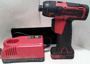 Snap On Cts761 1 4 Cordless 14 4v Hex Screwdriver Battery 8172 Charger Set Kit