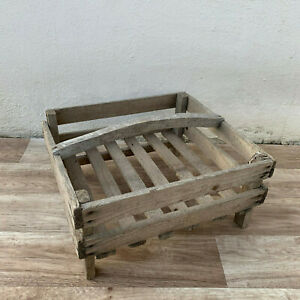 French Old Wooden Seed Tray Crates Small Size 1902195