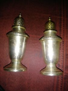 Gorham Sterling Silver Salt And Peppers Shakers 759