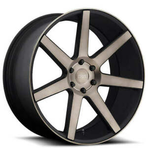 4 Set 24 Dub Wheels Future S127 Black Machined With Dark Tint Rims Fs
