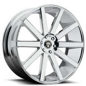 4 Set 24 Dub Wheels Shot Calla S120 Chrome Rims Fs