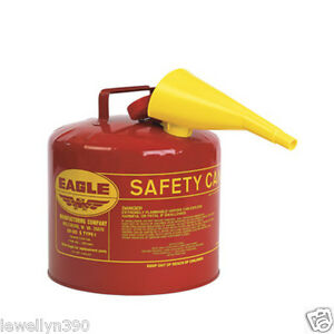 5 Gallon Eagle Safety Gas Can Meets Osha Nfpa Code 30 Requirements New