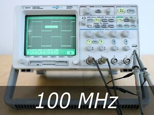Hp Agilent 54624a 4 channel 100 Mhz Oscilloscope 4 New Probes Very Clean