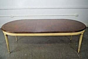 Karges Vintage French Louis Xvi Style Round Walnut Dining Table W 3 Leaves