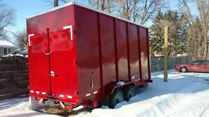 Heavy Duty Oversized Enclosed Dump Trailer Professionally Built