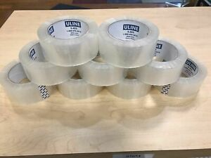 6 Uline S 423 2 X 110yds 2mil Packing Shipping Tape Rolls free Shipping