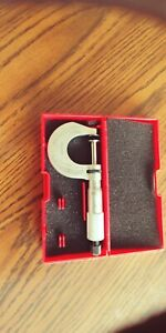Disc Type Micrometer 1 ratchet Starrett 256rl 1 This Is New Has A Few Marks