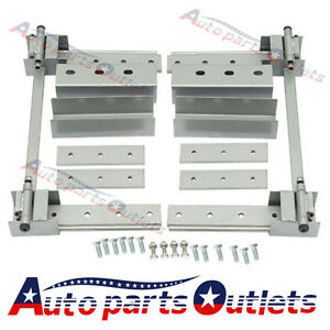New Brand Silver Super Heavy Duty Universal Hidden Hinge Kit For 2 Doors