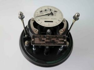 Antique Sangamo Electrical Watt Hour Meter No Glass