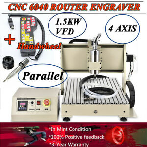 3 Axis Cnc 6040 Router Engraving Machine Carving Milling Engraver 1 5kw Vfd Ups