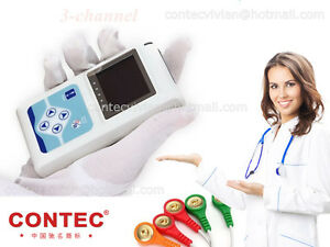 Us Tlc9803 Dynamic Holter Ecg System 24h 3 channel Ecg Recorder Sync Pc Software