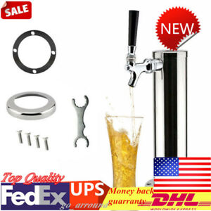 Single Tap Stainless Steel Draft Beer Tower Kegerator Chrome Faucet For Home bar