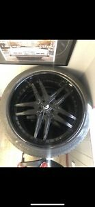 24 Forgiato Rims set Of 4 And Pirelli Scorpion Tires 5x120