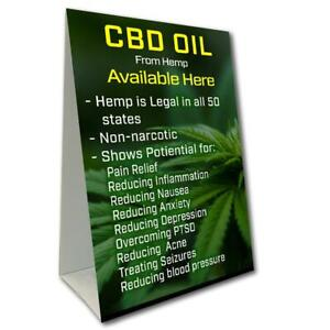 Cbd Oil Available Here Benefits Economy A frame Sign size Options