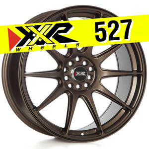 Xxr 527 19x8 75 5x114 3 15 Matte Bronze Wheels Set Of 4