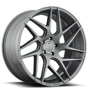 4new 19 Staggered Wheels And Tires Blaque Diamond Bd 3 Matte Graphite