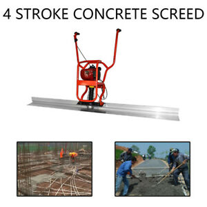 Gx35 37 7cc Gas Concrete Wet Screed Power Screed Cement 6 56ft Board