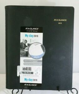 2019 Daily Planner Appointment Book 8 1 2 X 11 Large 24 Hour Black T3