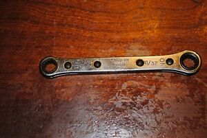 Used Snap On Tools 5 16 X 11 32 In Flat Ratchet Wrench Part R1011 12 Pt