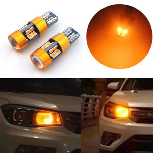 2x Amber T10 168 194 2825 W5w 19 Smd Car Position Parking City Lights Led Bulbs