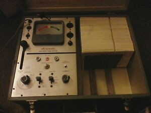 Rca Wt 110a Tube Tester Manual Extra Cards as is Not Tested Recently