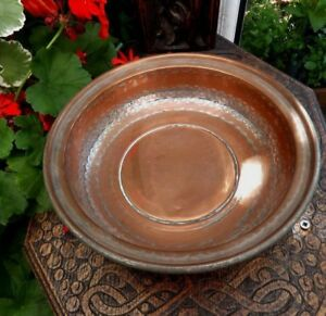 Antique Silver Washed Copper Brass Bowl Dish Qajar Dynasty Islamic Middl East