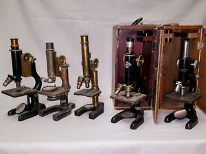 Antique Vintage Microscope Collection 20 Scopes Accessories And Extras