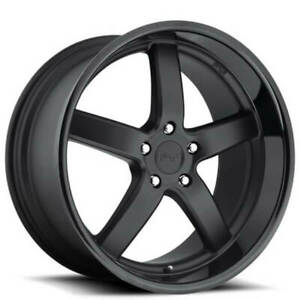 4new 19 Staggered Niche M173 Pantano Matte Black Wheels And Tires