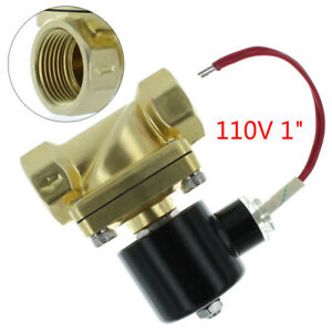 1 Npt Electric Solenoid Valve Brass Water Air Gas N c 1 Inch Usa Stock