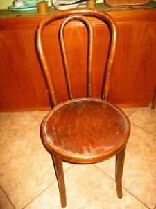 Antique Bentwood Caned Thonet 1 Chair Bistro Cafe Parlor 35 Tall
