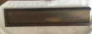 Antique Letterpress Galley Tray Metal W A Wooden Frame 23 X 3 5 Authentic