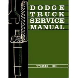 Factory Shop Service Manual For 1960 Dodge Trucks