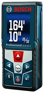 Bosch Glm 50 C Bluetooth Enabled Laser Distance Measure With Color Back