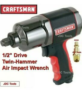 Craftsman 1 2 Heavy Duty Twin Hammer Air Impact Wrench New 919984