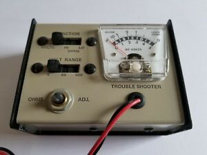 Vintage Bench Mountable Dc Volts Ohms Meter Manufactured By Keystone Electronics