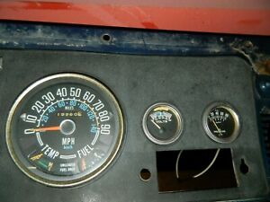 Jeep Cj Factory Original Speedometer Cluster Cj5 Cj7 90 Mph