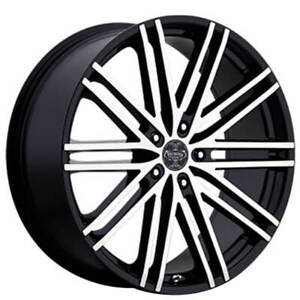Qty4 24 Versante Wheels Ve227 Black Machined Rims Fs
