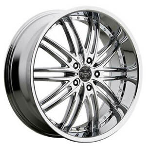 Qty4 24 Versante Wheels Ve231 Chrome Rims Fs