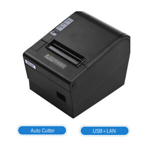 Hoin 80mm Auto cut Thermal Receipt Pos Printer Usb lan Support Cash Drawer H3v4
