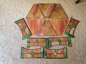 Antique Stained Glass Pieces Panels 12 Ravenna Glass 9 5 Lbs Antique Glass Shade