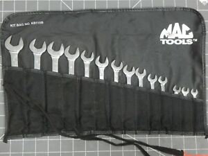 Mac Metric Short Combination Wrench Set 14pc 9 Knuckle Saver 6mm 19mm 12pt Nice