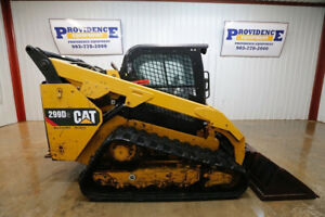 2015 Cat 299d Xp3 Cab Skid Steer Track Loader 95 Hp Ac heat 2 speed